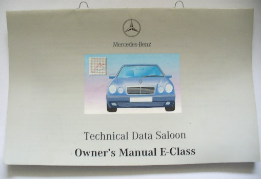 MERCEDES W208 CLK TECHNICAL DAT MANUAL
