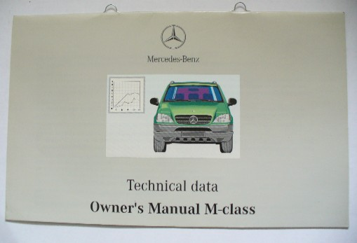 MERCEDES W163 M-CLASS TECHNICAL DATA MANUAL
