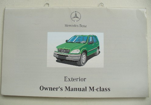 MERCEDES W163 M-CLASS OWNERS EXTERIOR MANUAL