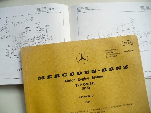 MERCEDES W615 ENGINE ILLUSTRATED PARTS MANUAL