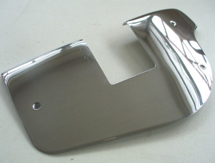 MERCEDES W113 SL 'PAGODA' RIGHT SIDE CHROME DOOR LOCK PLATE