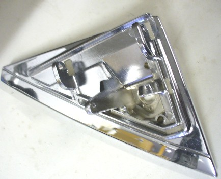 MERCEDES W123 SERIES LEFT SIDE CHROME MIRROR MOUNTING BRACKET