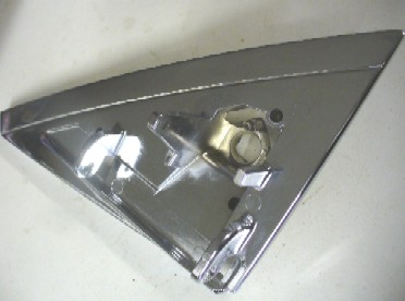 MERCEDES W123 SERIES RIGHT SIDE MIRROR MOUNTING CHROME BRACKET