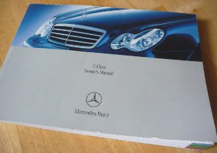 MERCEDES W203 SERIES C-CLASS OWNERS MANUAL-326 PAGES/INFO ILLUSTRATIONS