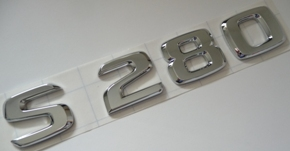 MERCEDES W140 BOOT BADGE 'S 280' STICK ON TYPE