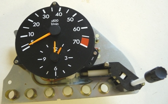 MERCEDES W126 SE/SEL TACHOMETER WITH CLOCK