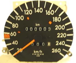 MERCEDES W124 300 CE / AMG 300 E 3.4 SPEEDOMETER-KMH