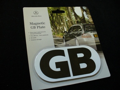 MERCEDES GB PLATE - MAGNETIC